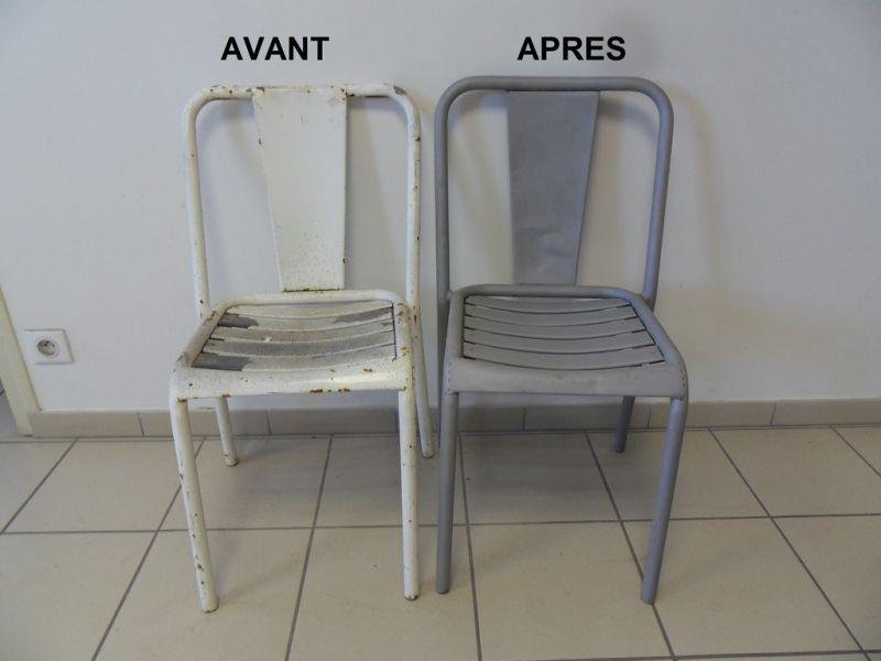 D capage de chaises en m tal nettoyage vapeur d capage for Decapage de meuble