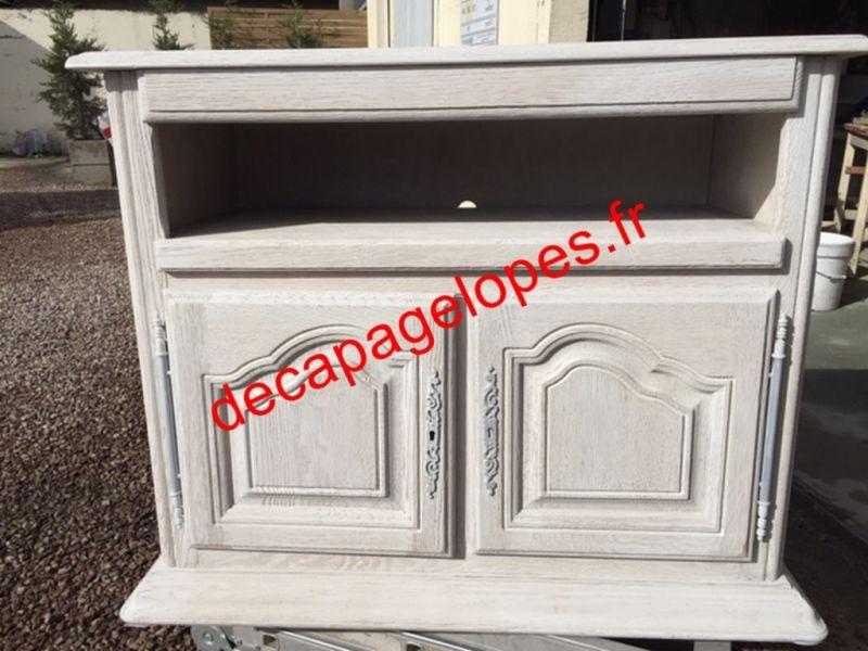 D capage et relooking d 39 un meuble t l eveux dans l 39 eure entreprise de d capage sur tous - Entreprise decapage meuble ...