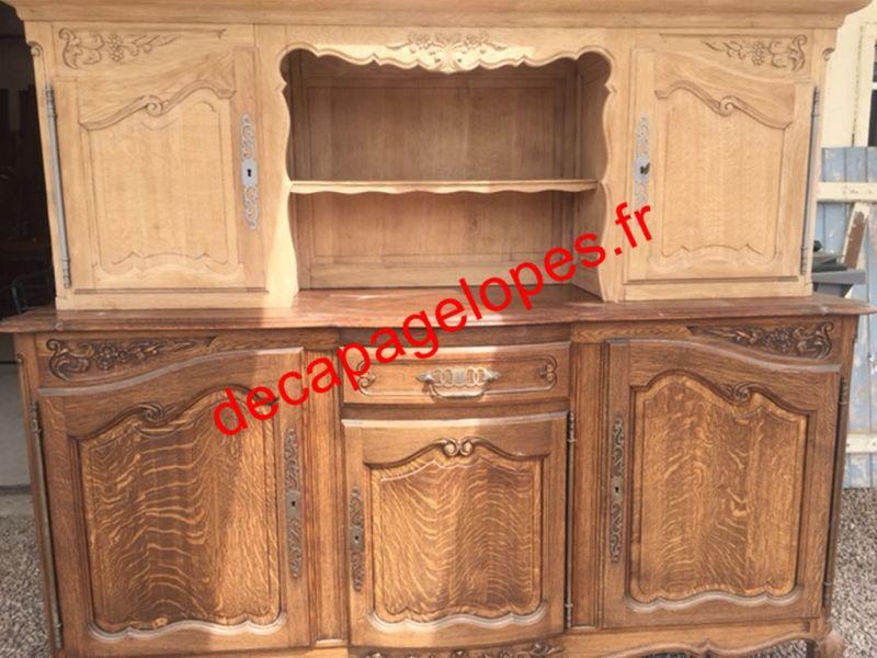 D capage par a rogommage d 39 un meuble 2 corps dans l 39 eure for Decapage meuble
