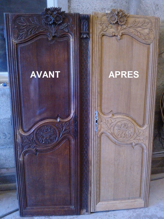 D capage armoires normandes nettoyage vapeur d capage - Peindre une armoire ancienne ...