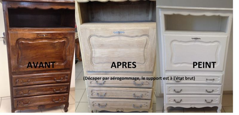 relooking de meuble dans nos ateliers nettoyage vapeur. Black Bedroom Furniture Sets. Home Design Ideas